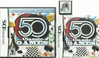 Nintendo DS 50 CLASSIC GAMES  Hours of Fun  EUC with game, case and manual  in very good condition Newmarket