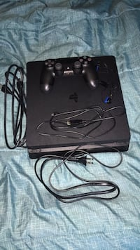 Black sony ps4 console with controller Silver Spring, 20903