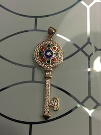 18k Gold Plated Key Pendant