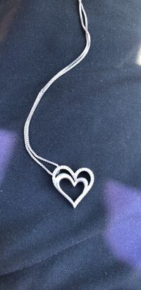 White silver Kay jewelry heart necklace Niles, 44446