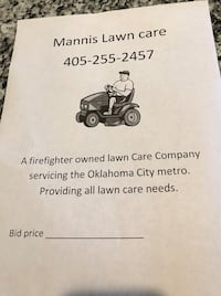 Lawn mowing Midwest City