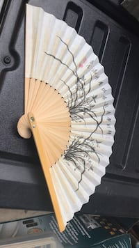 white and black floral decorative hand fan Fairfax, 22031