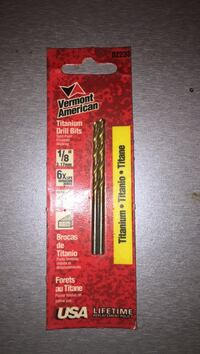 """Brand new unopened vermont american titanium drill bits 1/8"""" Airdrie, T4A 2C6"""