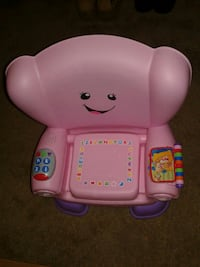 Pink Fisher-Price learning seat