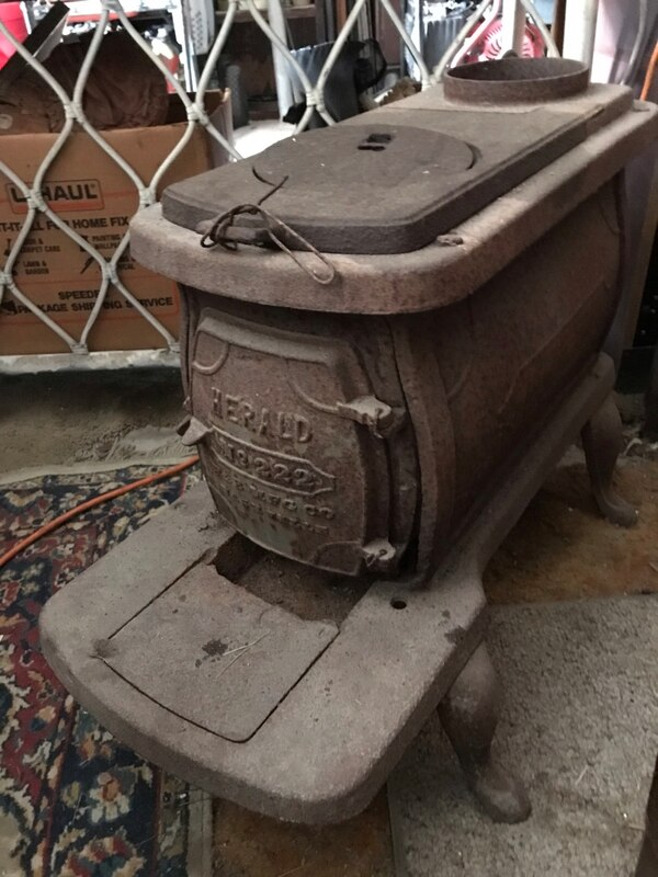 Antique Cast Iron Wood Burning Stove