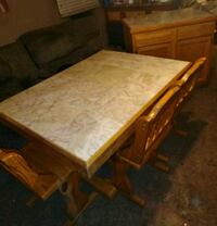 Marble Top Table,  3 Chairs and Matching idlabmf Chillicothe, 45601