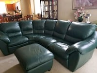 Green soft leather 3-4 seat sofa Edmonds, 98026