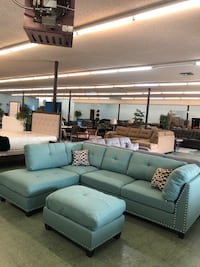 Brand New 2pc Sectional With Ottoman $599 Only, No Credit Needed Finance 2347 mi