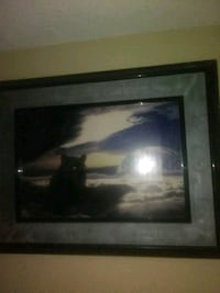black wooden framed painting of house North Las Vegas, 89030