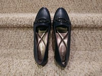 New Women's 8 1/2 Navy Shoes, leather Woodbridge, 22193