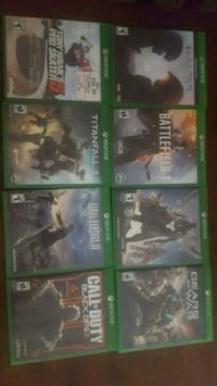 8 Xbox One Games (pre-owned) Dover
