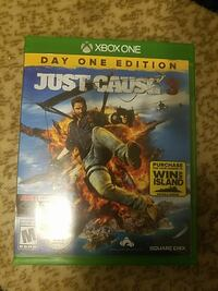 Xbox One Just Cause 3 game case Manassas, 20110