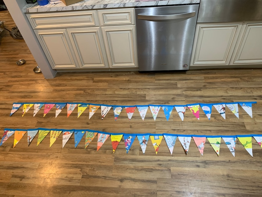 Photo Dr. Seuss bunting/banner