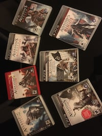 Assassins creed ps3 collection and sorted games Toronto, M2K 2J7