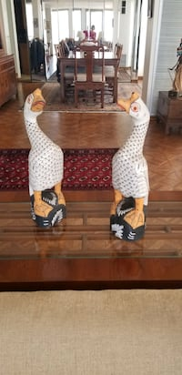 Vintage Indonesian Hand Painted Wooden Ducks Chicago, 60611