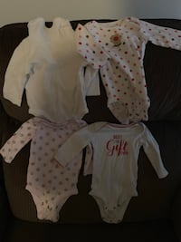 Girls long sleeve onesies size 0-3 Orchard Hills, 21742