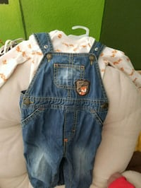 6-9 month overalls with fox long sleeve El Paso, 79936
