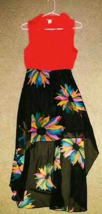 black, red, and blue floral sleeveless dress Carlsbad, 92011