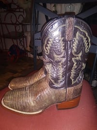 Nutmeg lizard Lagrange leather boots