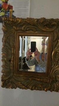 Baroque carved wood mirror