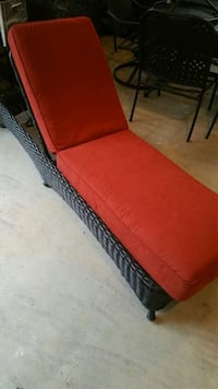 wicker black lounger with red cushion Elkridge, 21075