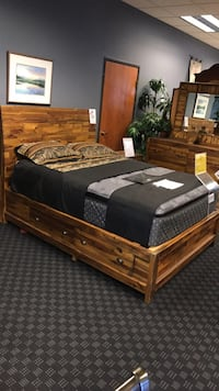 Solid Wood Queen Bed Frame / Drawers Are an Additional $200