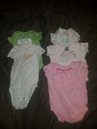Lot of 0-3 month baby girl spring/ summer outfits, dresses