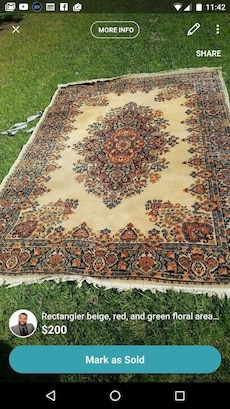 brown, beige and black floral area rug