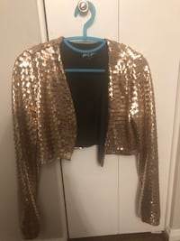 Nasty Gal Rose Gold Sequin Jacket - Small Fairfax, 22033