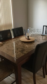 brown wooden dining table set Cambridge, N3H 5R5