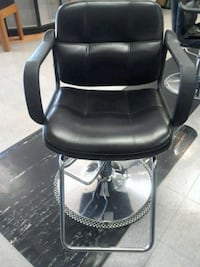 black leather padded rolling armchair Gaithersburg