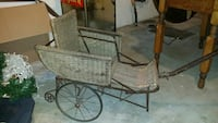 Authentic 1920s Haywood Wakefield wicker buggy