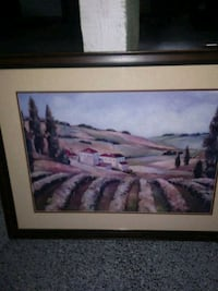 brown wooden framed painting of mountain Somerville, 08876