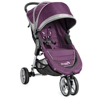 City Mini by Baby Jogger Stroller Purple/ Gray excellent condition