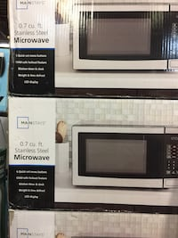 0.7 CU.FT Microwave Oven Open Box Unit From $29.99 No Tax