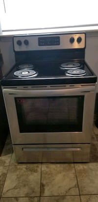 """Frigidaire 30"""" Stainless Steel Electric coil Burner range Stove."""