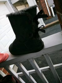 pair of black suede boots Raleigh, 27614
