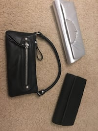 black and silver wallets