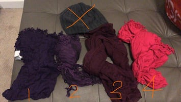 Winter Scarves ($5 for all) pick up only
