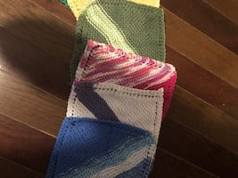 Knit dishcloths in various colours