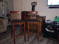 Wooden bar stools (2) Annandale, 22003