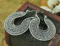 pair of silver traditional earrings Ahmedabad, 380007