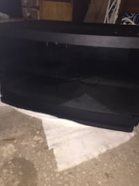 Tv Console with glass doors