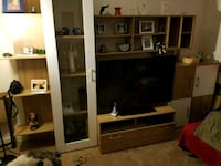 flat screen television with brown wooden TV hutch Pomfret, 20675