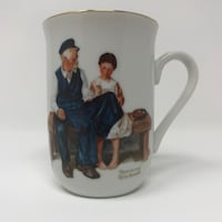 Vintage 1982 Norman Rockwell the lighthouse keepers taught porcelain mug Toronto, M2L 2S9