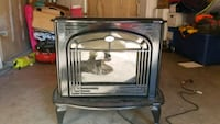 black and gray electric fireplace Aurora, 80017