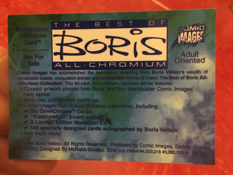 BORIS Promotional Chromium Trading Card ! 2