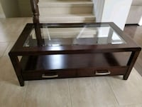 Wood Coffee table with glass - new condition London, N6G 0G4