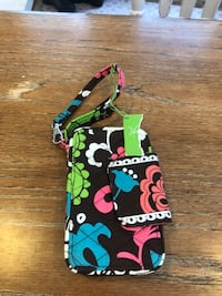 black, pink, and green floral wristlet Columbia, 21046