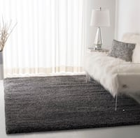 "Dark grey plush shag rug (5'3"" x 7'6"") Fairfax, 22033"